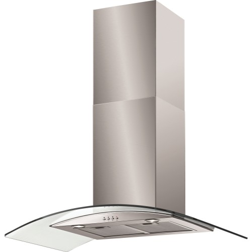 Baumatic BT9.3GL Curved Glass 90cm Chimney Cooker Hood Stainless Steel