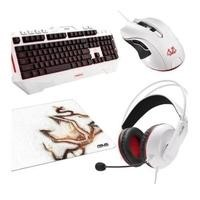 ASUS Cerberus Arctic White Gaming bundle