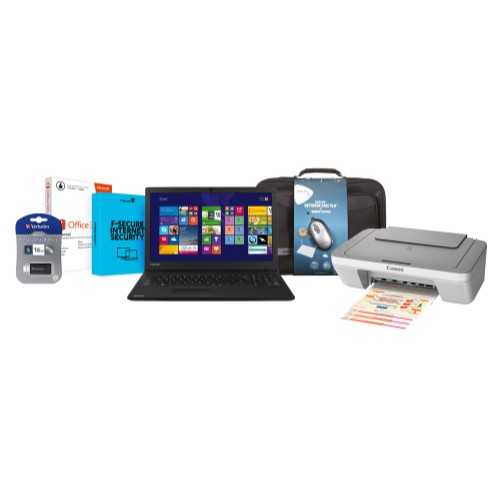 Toshiba R50-B-12X Bundle Office Home & Student 2013 Inkjet Photo Printer Tech Air Bag & Mouse 32GB USB Stick F-Secure Internet Security