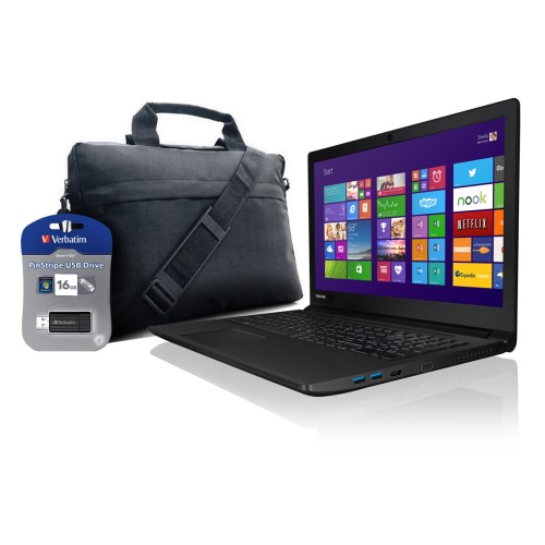 "Toshiba Satellite Pro R50 Bundle 15.6"" X-Dream Carry case 16GB USB Stick"