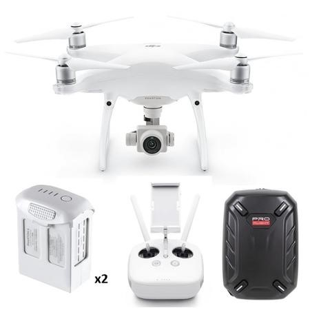 BUN/DJIP4PRO/69668 DJI Phantom 4 Pro 4K Drone with Extra Battery & Free Hard Shell Backpack
