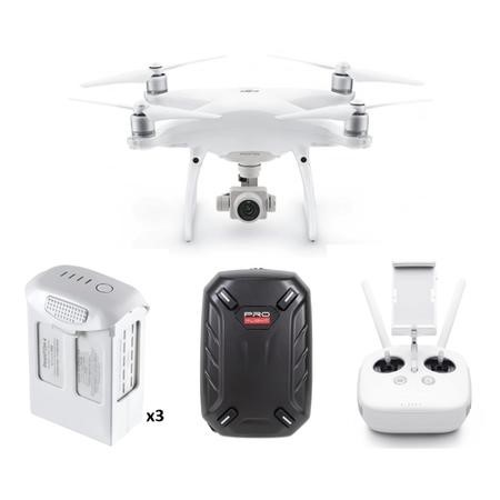 BUN/DJIP4PRO/69669 DJI Phantom 4 Pro 4K Camera Drone wtih Two Extra Batteries & Free Hard Shell Backpack