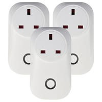 electriQ Smart Plug - Remote control your Mains Plugs from anywhere - Alexa/Google Home compatible - Triple Pack