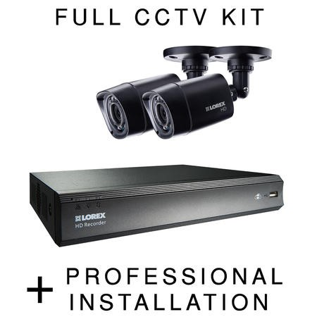 Lorex HD 720p 2 Camera CCTV System with Professional Installation