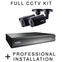 Lorex HD 720p 2 Camera CCTV System with Professtional Installation
