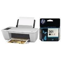 Ex Display HP Deskjet 2542 A4 Compact All In One Wireless Inkjet Printer + HP 301 Black Original Ink Cartridge