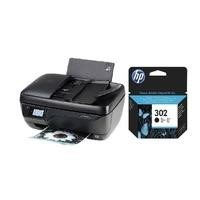 Ex Display HP OfficeJet 3830 A4 All In One Wireless Injet Colour Printer + HP 302 Black Original Ink Cartridge