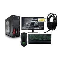 PC Specialist GTX 1050Ti Desktop With ElectriQ 4K Monitor And Razer Gaming Keyboard Headset Mouse