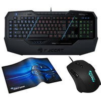 Roccat Gaming Bundle - ISKU FX Keyboard + Kiro Modular Mouse + Sense Chrome Surface