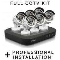 Swann Super HD 3 Megapixel 6 Camera CCTV System with Professional Installation