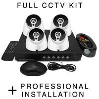 electriQ HD 720p 4 Dome Camera CCTV System with Professional Installation