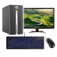 Gaming PC Bundle - HP Pavilion 510 AMD A10-9700 8GB 1TB Radeon RX 460 Windows 10 Gaming PC