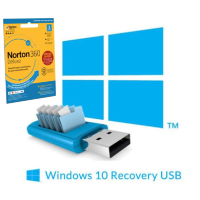 BID Recovery USB Stick for Windows 10 Laptops with Norton 1 year Security