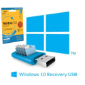 BUN/21397150/75387 BID Recovery USB Stick for Windows 10 Laptops with Norton 1 year Security