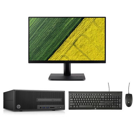 "BUN/2RU52EA/70222 HP 280 G2 Core i5-7500 8GB 256GB SSD Win 10 Pro Desktop + Acer 23.8"" HDMI VGA Monitor Bundle"