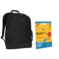 "15.6"" Wenger Laptop Backpack with Norton Internet Security"