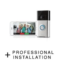 Ring Video Doorbell Satin Nickel with Professional Installation