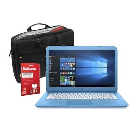 "Refurbished HP Stream 14-ax050sa 14"" Intel Celeron N3060 1.6GHz 4GB 32GB eMMC Windows 10 Laptop in Blue Laptop Bundle"
