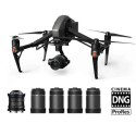 BUN/CP.BX.000250/75408 DJI Inspire 2 Professional Cinema Pack with RAW ProRes Zenmuse X7 and 5 Lenses -