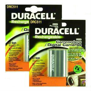 Camera Battery Duracell DRC511 Twin Pack 7.4v 1400mAh