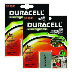 Camera Battery Duracell DR9933 Twin Pack 7.4v 1000mAh