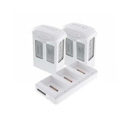 BUN/DJIP4B/69781 Two DJI Phantom 4 High Cap Rechargeable Intelligent Flight Batteries + Battery Charging Hub