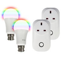 electriQ B22 Smart bulb and Wi-Fi plug - Twin bundle