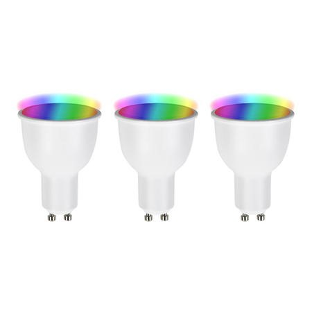 electriQ Smart Lighting dimmable colour Wifi Bulb with GU10 Spotlight fitting - Pack of 3