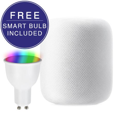 APPLE HomePod Smart Speaker White with FREE GU10 Smart Bulb
