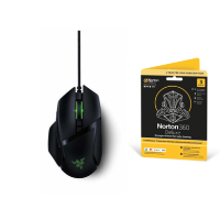 Razer Basilisk V2 Optical RGB Wired Gaming Mouse & Norton Gaming Bundle