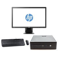 "Refurbished HP EliteDesk 800 G1 Core i5-4570 4GB 128GB SSD Win 10 Pro + Refurb  HP EliteDisplay 23"" Monitor Bundle"