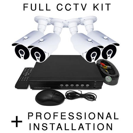 BUN/TL-D4H4221TB/69999 electriQ HD 720p 4 Camera CCTV System with Professional Installation