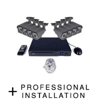 electriQ CCTV System - 8 Channel HD 1080p NVR with 8 x 1080p Bullet Cameras 1TB HDD & Professional Installation