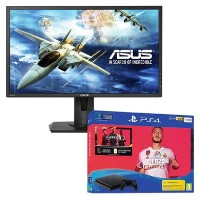 "ASUS VG245H 24"" Full HD 1ms FreeSync Gaming Monitor with Sony PS4 1TB FIFA 20 + DualShock Controller Bundle"