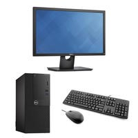 "Dell OptiPlex 2050 Core i3-7100 4GB 500GB HD Win 10 Pro Desktop + Dell 21.5"" VGA DP Monitor Bundle"