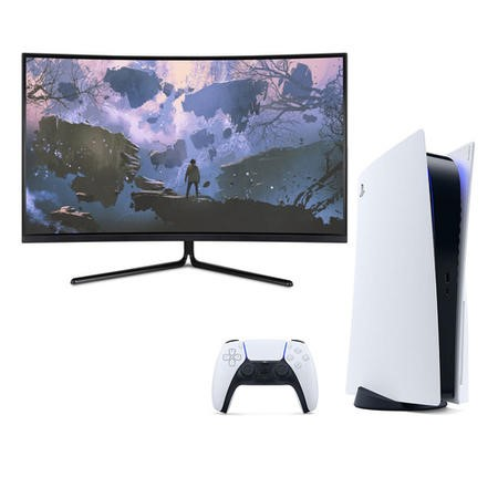 "Sony PlayStation 5 Console 1TB with 31.5"" 4K Gaming Monitor"