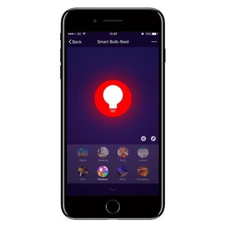 electriQ Smart dimmable colour Wifi Bulb with GU10 spotlight fitting - Alexa & Google Home compatible
