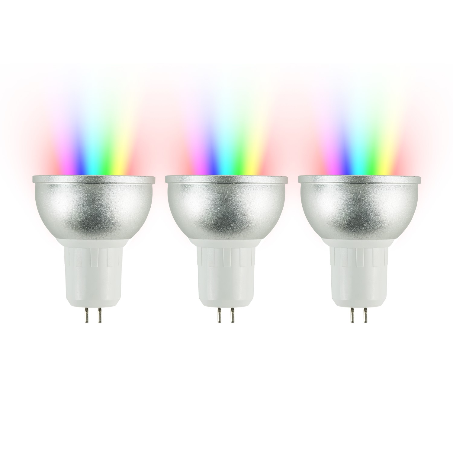 electriQ Smart dimmable colour Wifi Bulb with MR16 short spotlight fitting  3 Pack