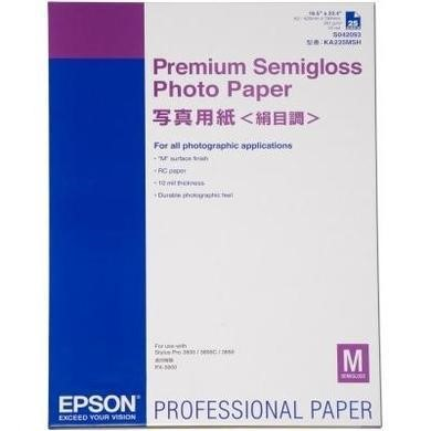 Epson Premium Semigloss Photo Paper - semi-gloss photo paper - 25 sheets
