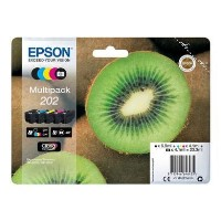 Epson Multipack 202 - 5-pack - black yellow cyan magenta photo black - original - blister - ink cartridge - for Expression Premium XP-6000 XP-6005