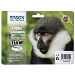 Epson T0895 Multipack - Print cartridge - 1 x black, yellow, cyan, magenta - blister - for Stylus S21, SX100, SX105, SX115, SX215, SX218, SX400, SX405, SX415, Stylus Office BX300