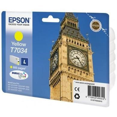 Epson T703440 Yellow Ink Std Cap 0.8k