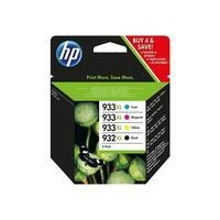 HP 932XL/933XL BLACK/Cyan/Magenta/Yellow 4 PACK Ink Cartridge