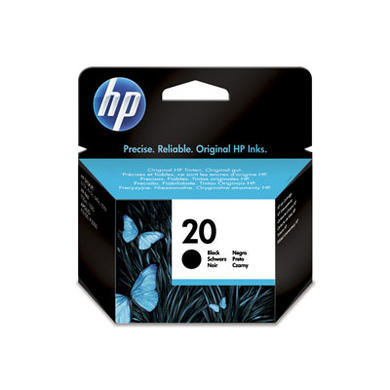 HP No.20 Black Ink Cartridge