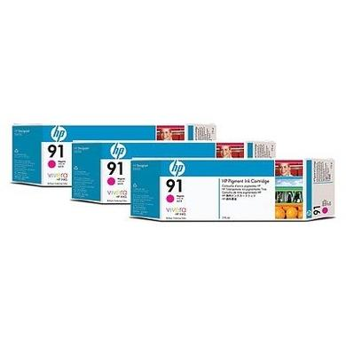 HP 91 3-ink Multipack - print cartridge