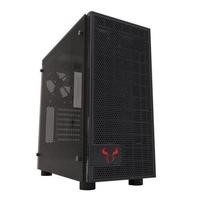 Riotoro CR500 Gaming Case with Window ATX No PSU Tempered Glass 2 x 12cm Fans Black