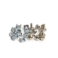 50 Pkg M5 Mounting Screws and Cage Nuts for Server Rack