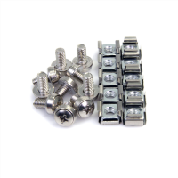 100 Pkg M6 Mounting Screws and Cage Nuts for Server Rack Ca