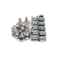 50 Sets M6 Mounting Screws and Nuts for Server Rack Cabinet