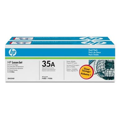 Hewlett Packard HP 35A Black Dual PK Laser Toner Cartridge